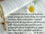 Dlatego wzywam was i proszę, abyście waszym życiem, w codziennych sprawach, świadczyli o mojej obecności